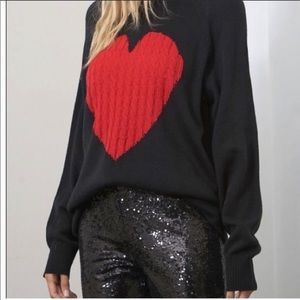 Beautiful Heart pull over sweater  Cotton blend